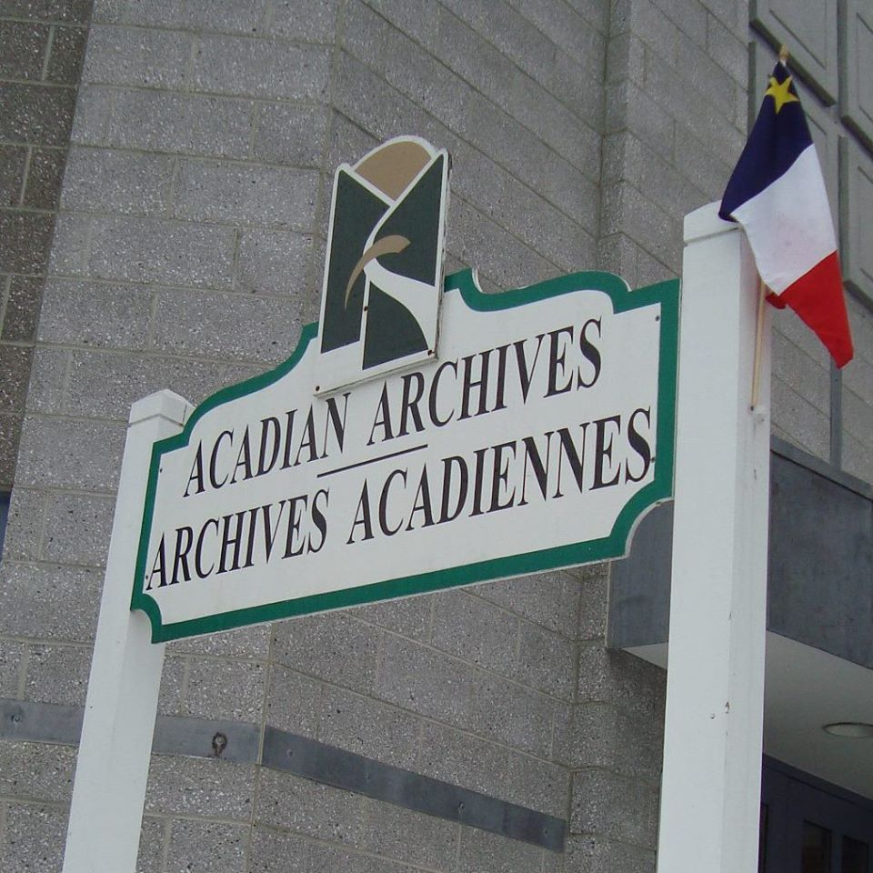 UMFK Acadian Archives Entrance Sign