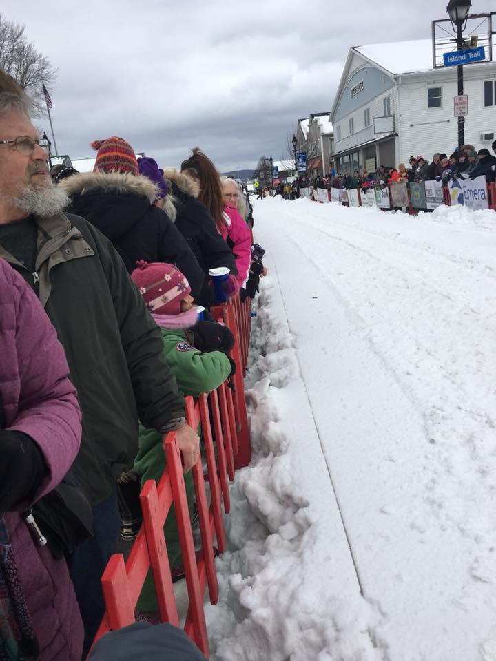Can Am Sled Dog Race Crowds (Main Street Start)