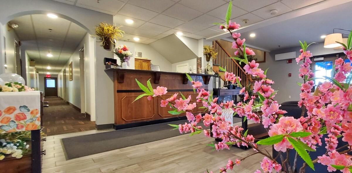 Long Lake Motor Inn Reception Area