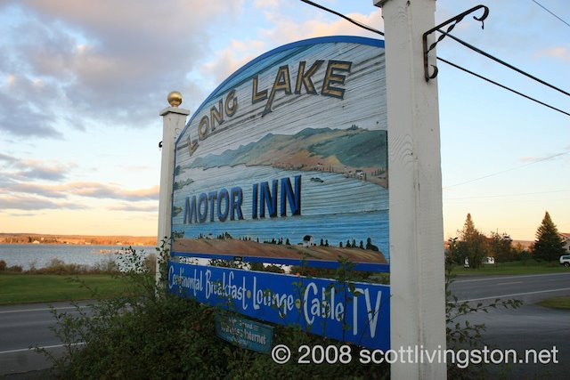 Long Lake Motor Inn -Roadside Sign