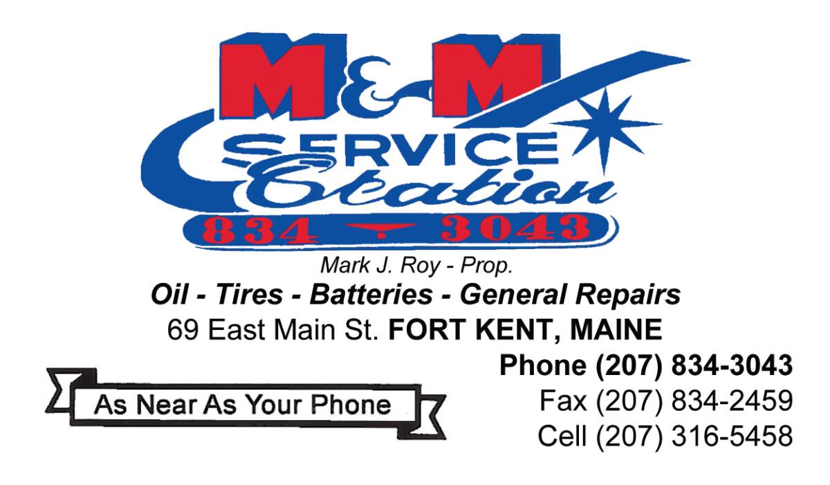 M&M Service Station Logo