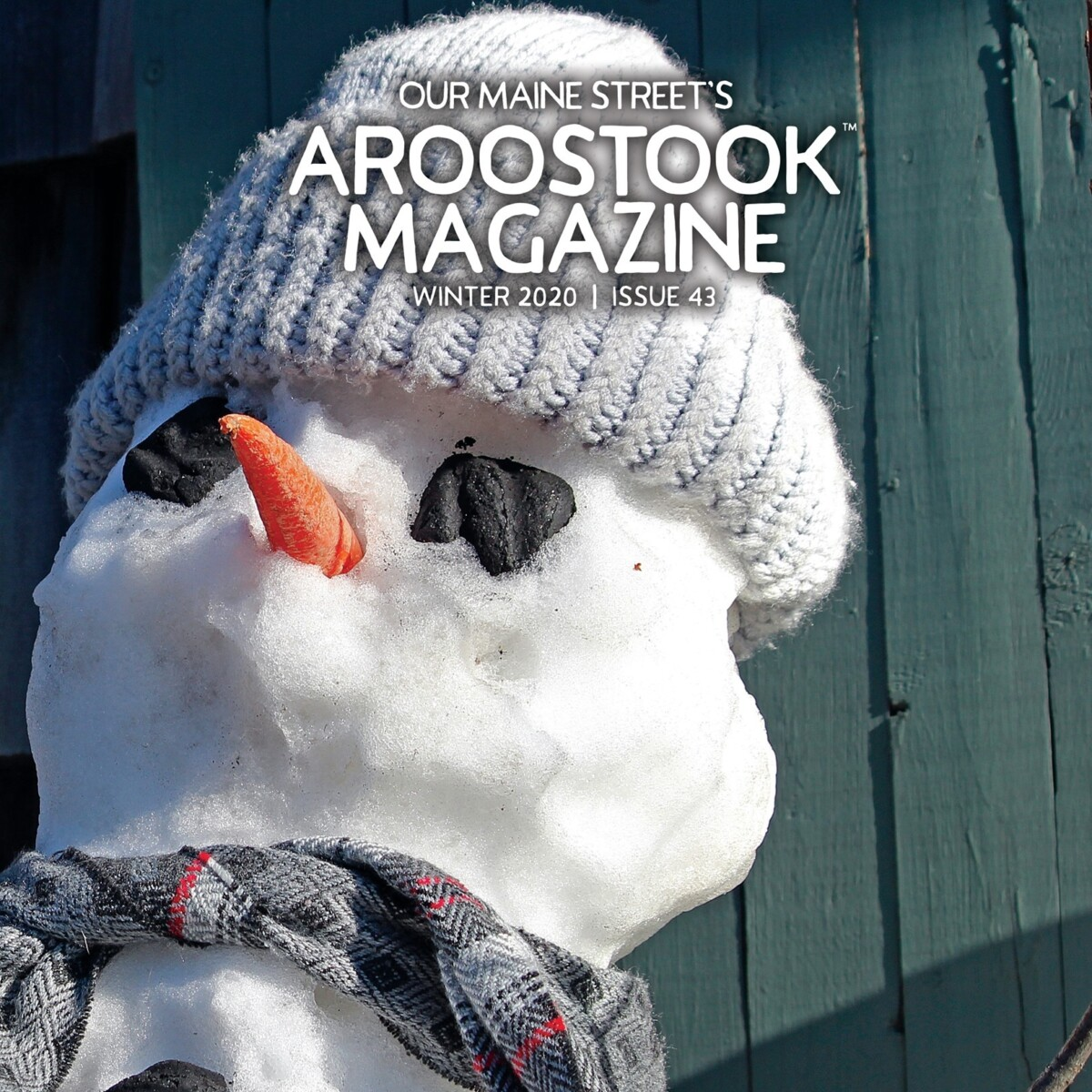 Our Maine Street's Aroostook Magazine Winter 2020 Cover (photo by Michael Gudreau)