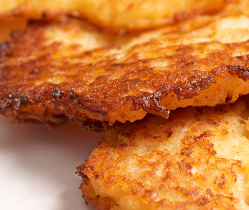Crisp latke edges