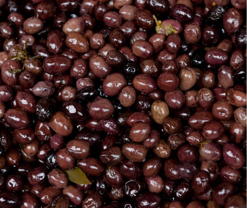 A variety of Israeli olives
