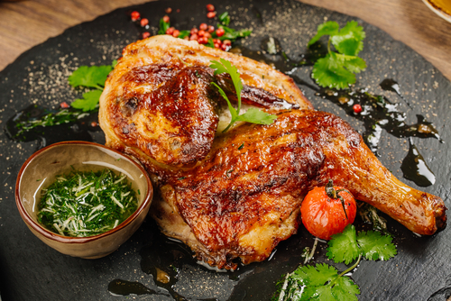 grilled chicken quarters