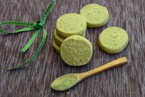 green tea butter cookies