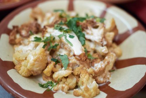 roast cauliflower with tehina sauce