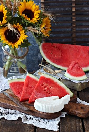 Watermelon with Bulgarian cheese