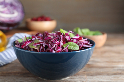 Purple slaw with cranberries