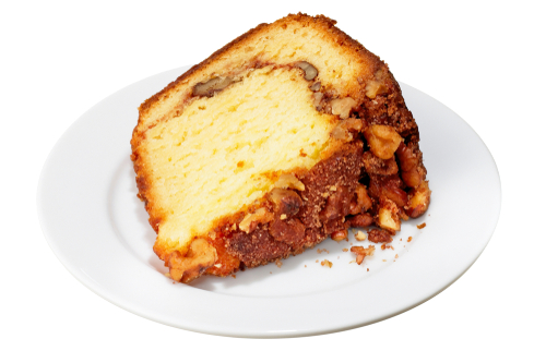 slice of sour cream coffee cake