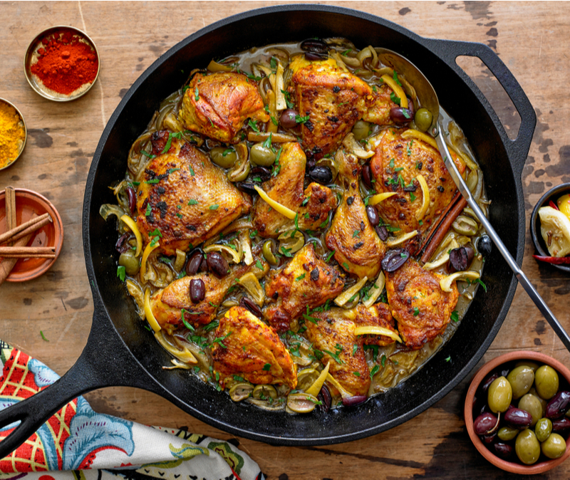 chicken tagine with preserved lemon and olives