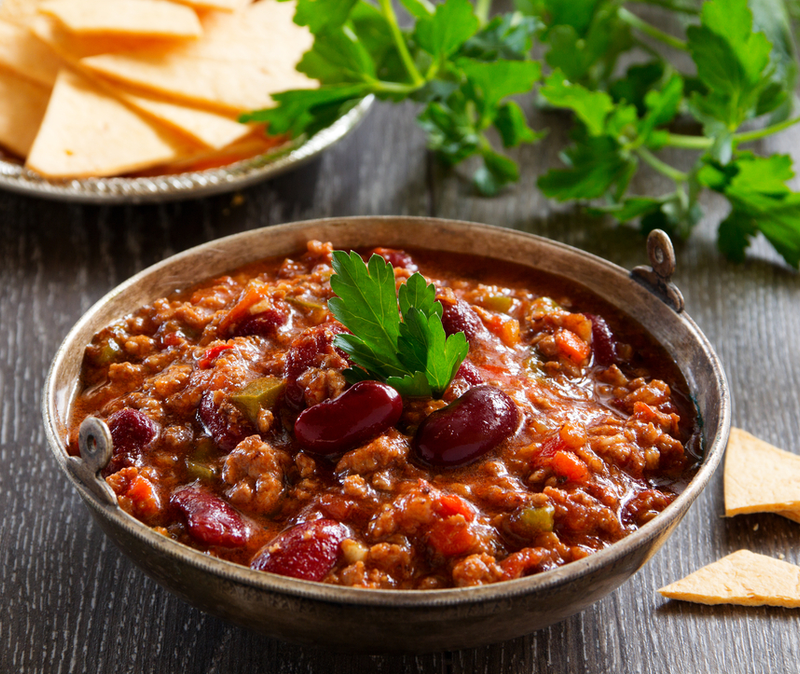 kosher chili con carne (chili with meat)