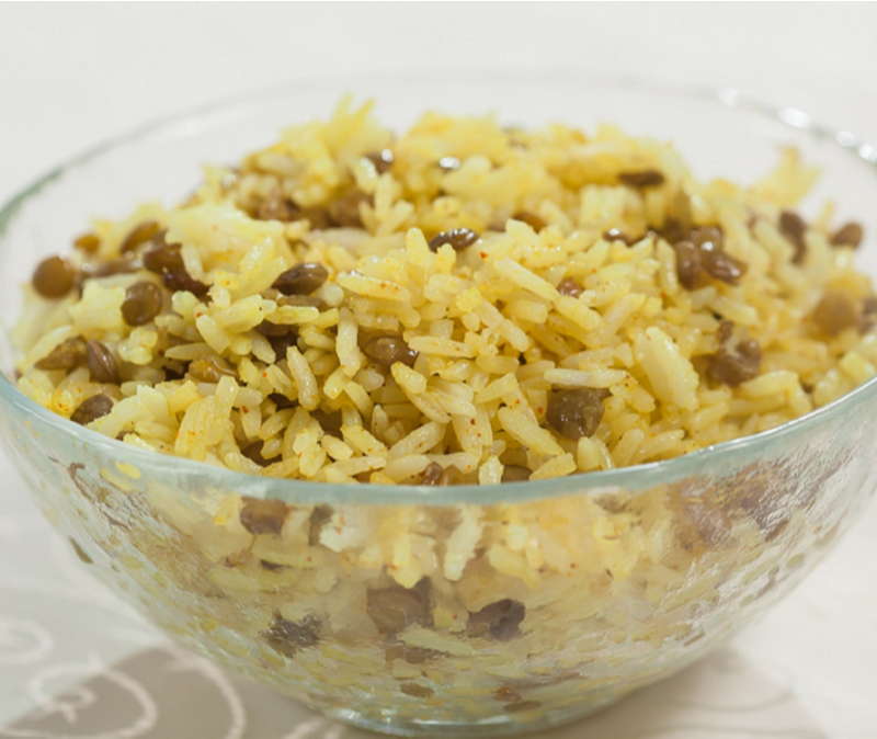 Mujadara Middle Eastern lentils and rice