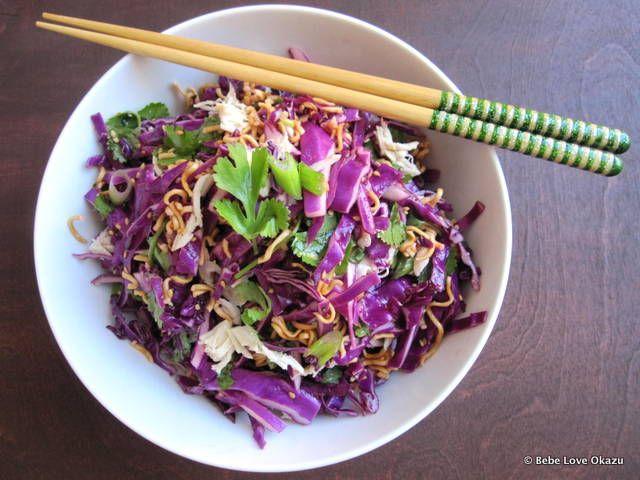 red cabbage ramen noodle salad