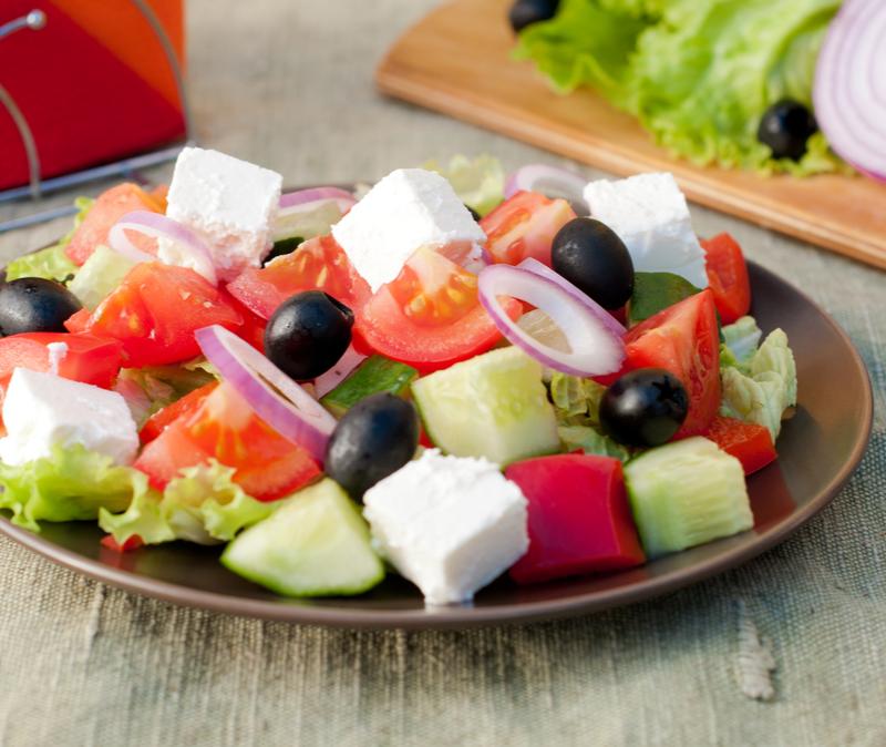 tofu greek salad