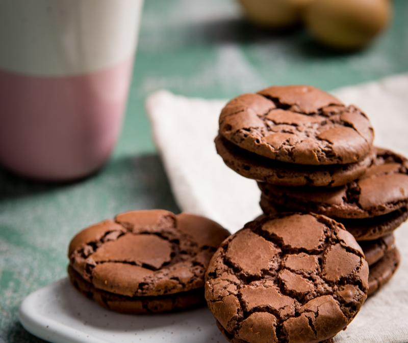 mint chocolate crack cookies