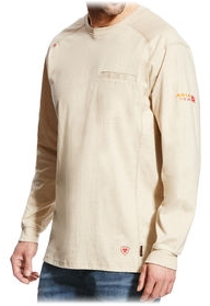 Tan Ariat Air Crew Men's Shirt