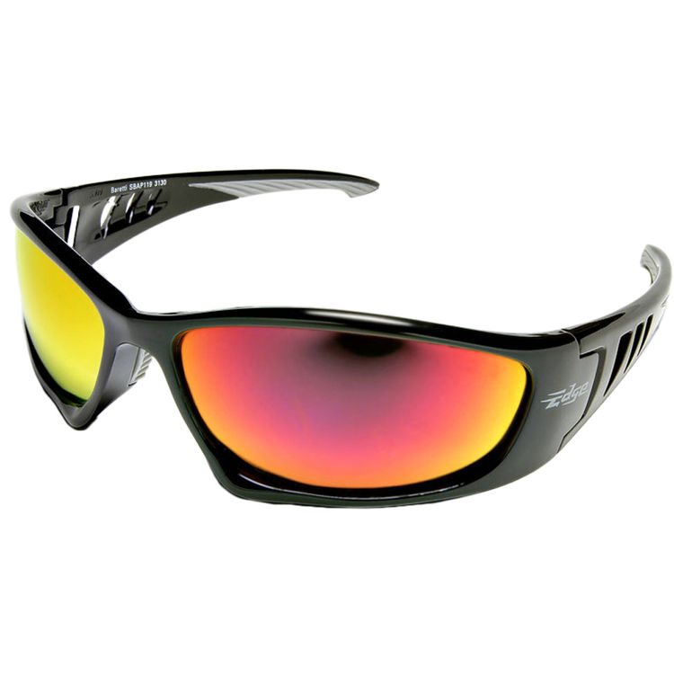 Edge Mirror Red Lens Safety Glasses