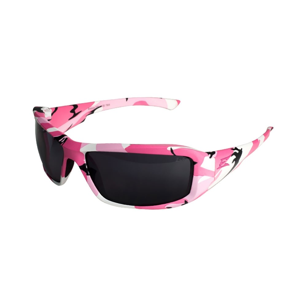 Edge Pink Camo Smoke Safety Glasses