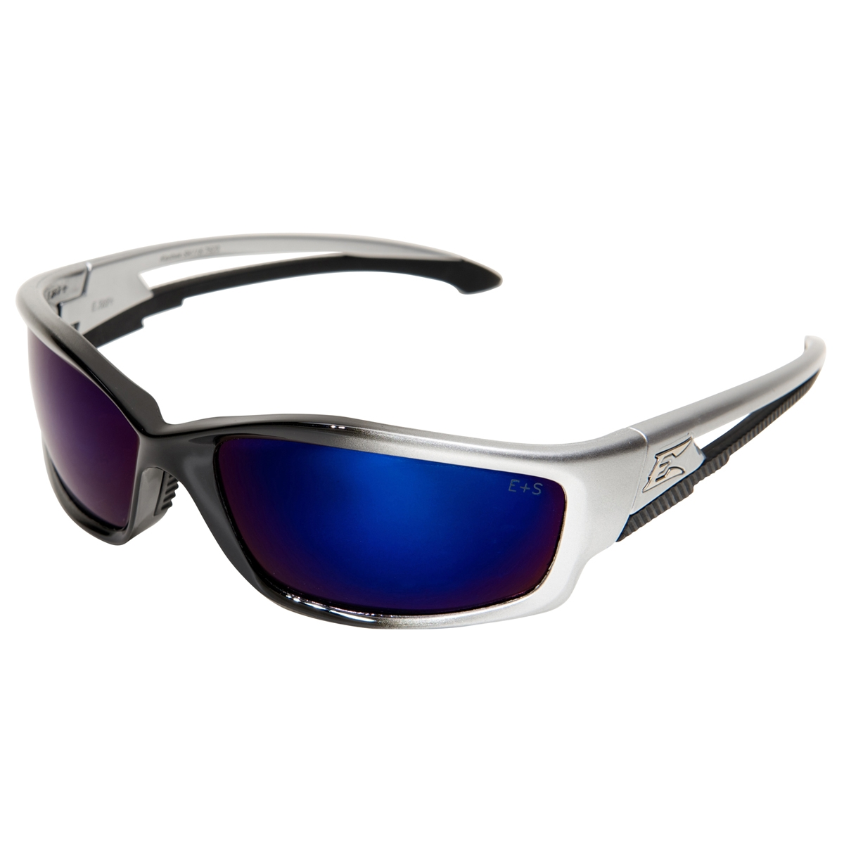 Edge Silver Mirror Blue Lens Safety Glasses