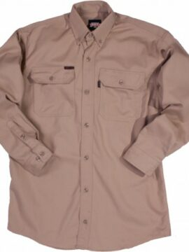 Key Flameout Tan Men's Button Down Shirt