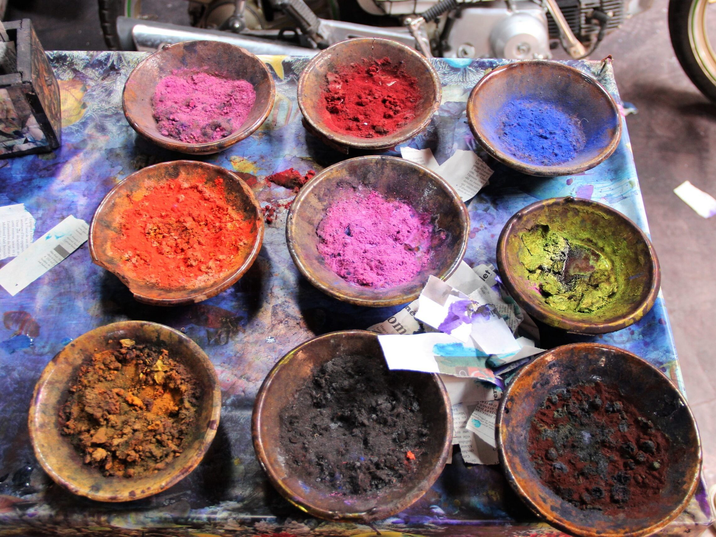 Dyes in Marrakech, Morocco