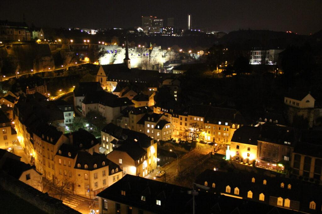 Luxembourg City night Grund