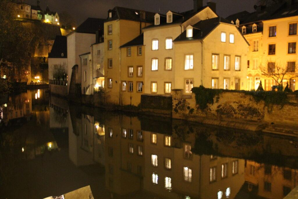 Luxembourg City reflection in the Grund