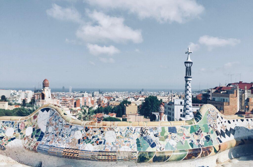 Park Guell Antoni Gaudi Barcelona, Spain