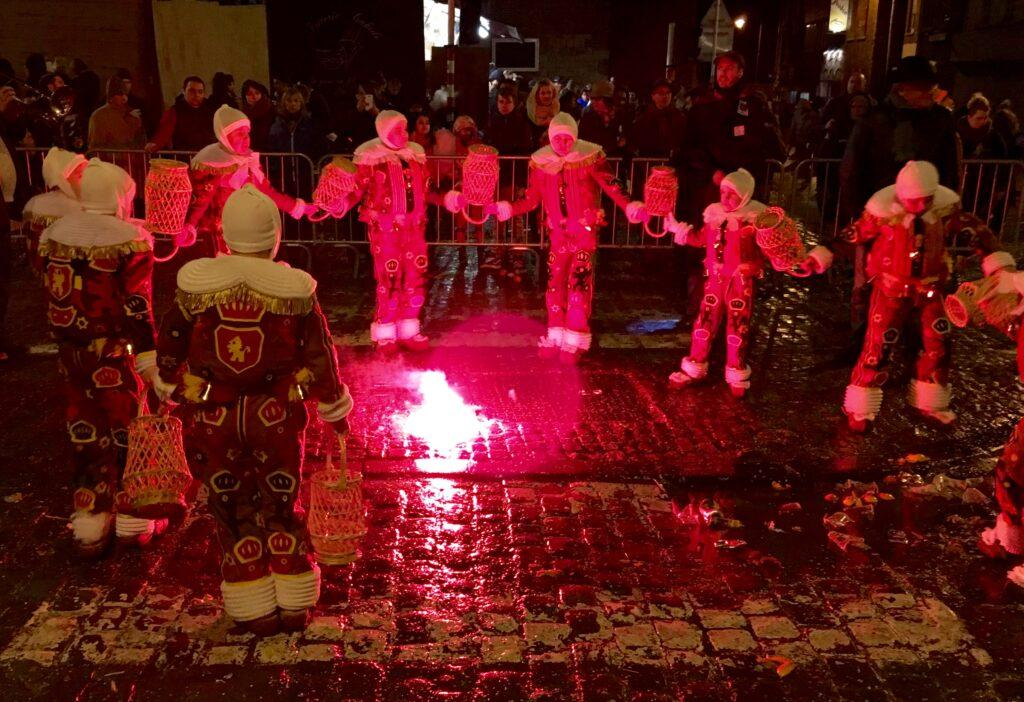 Fire dance by gilles in Binche carnival
