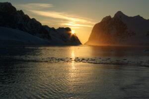 Antarctica sunset
