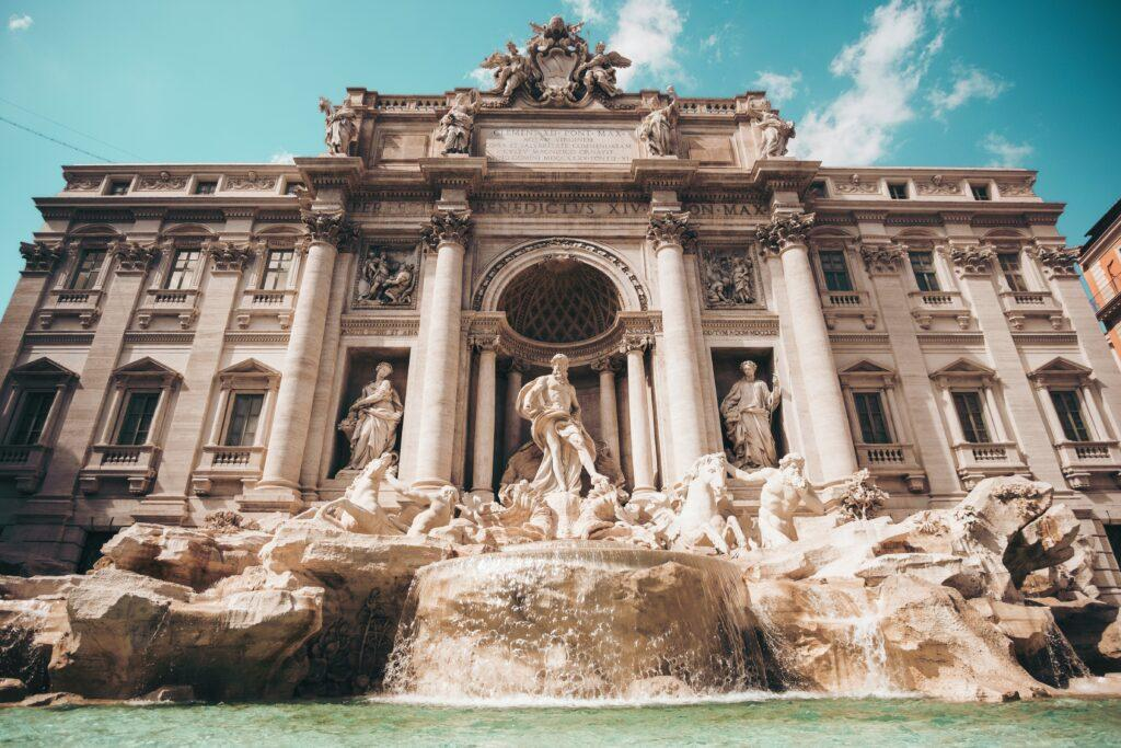 Colosseum and Trevi Fountain, Rome
