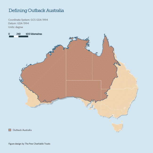Map of Australian Outback