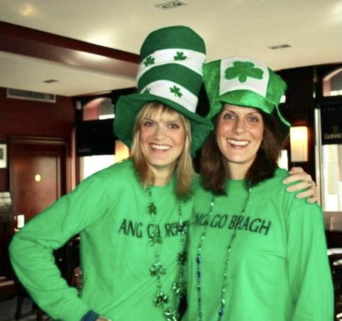 Mel and me in Dublin on St. Patrick's Day