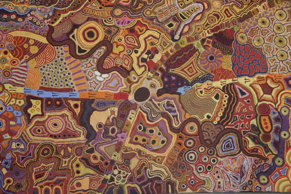 Aboriginal Australian dot painting