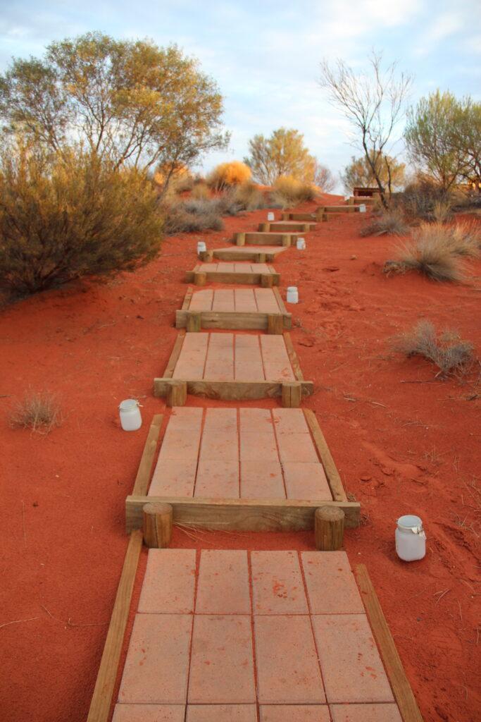Iron oxide soil in the Australian outback