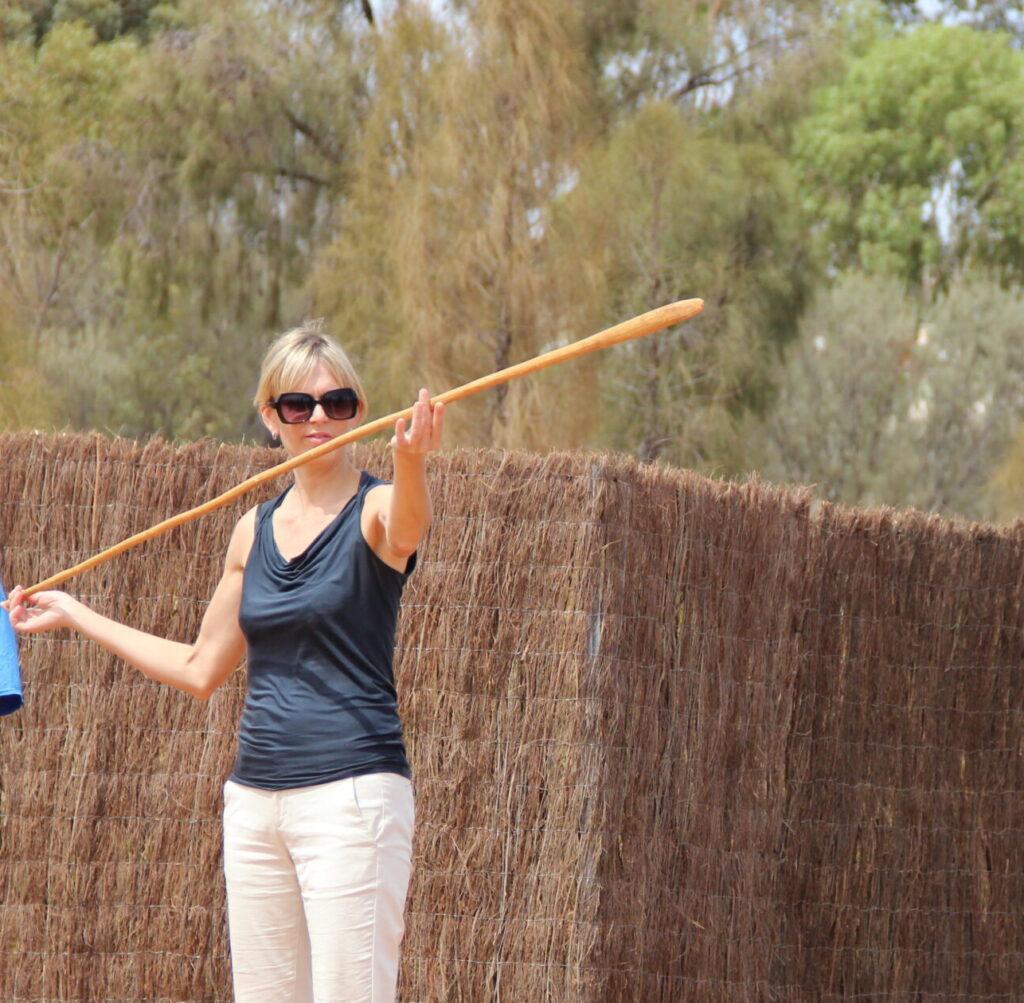 Spear throwing in Australian outback