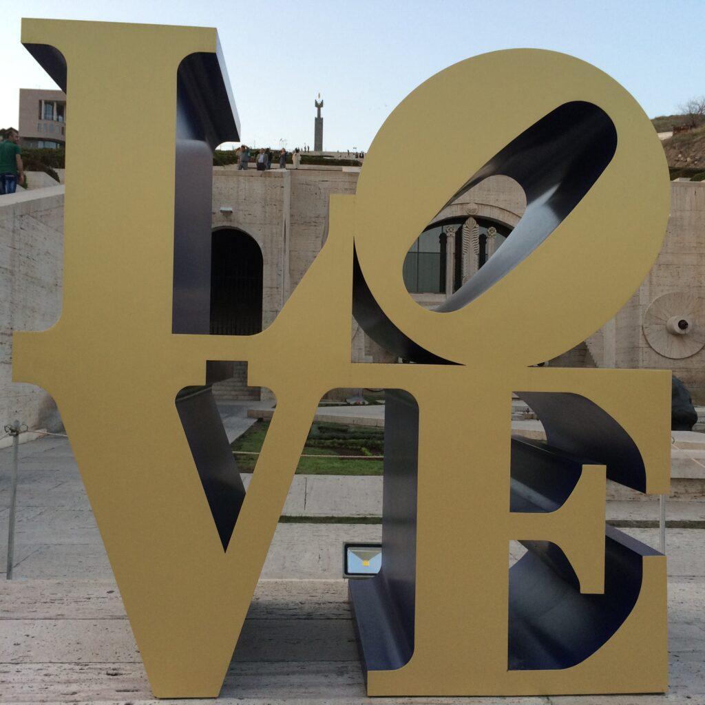 Love sculpture Yerevan