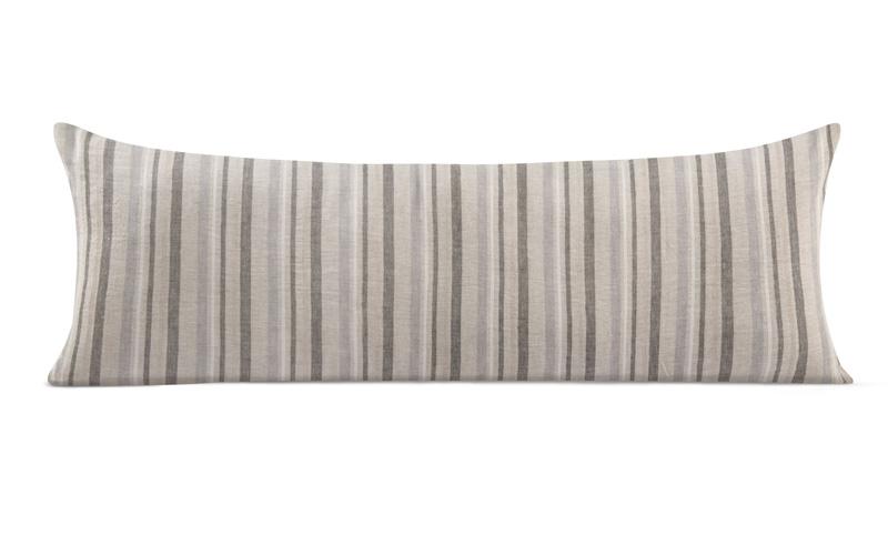 Woven Linen Lumbar Pillow 14 X40 Archives Creative Thread Usa