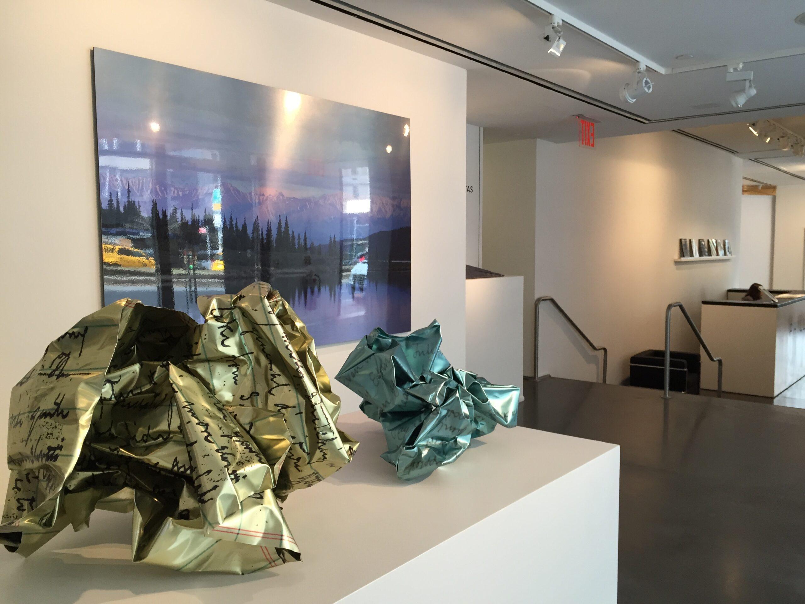 Andrew Levitas crinkle sculptures