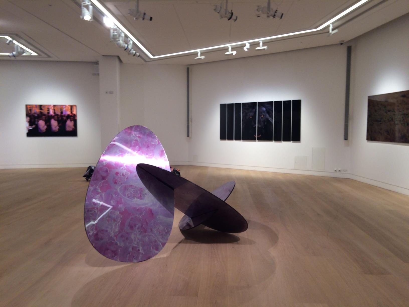 Metalwork Sculptures® purple circles