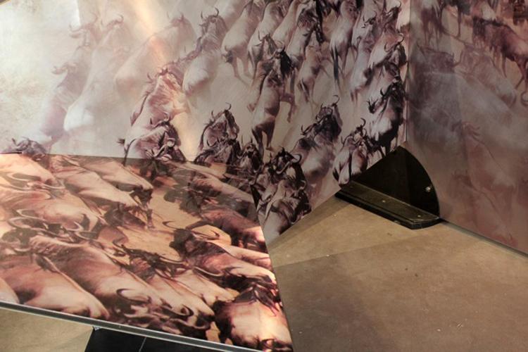 Metalwork Sculptures® buffalo squares close up