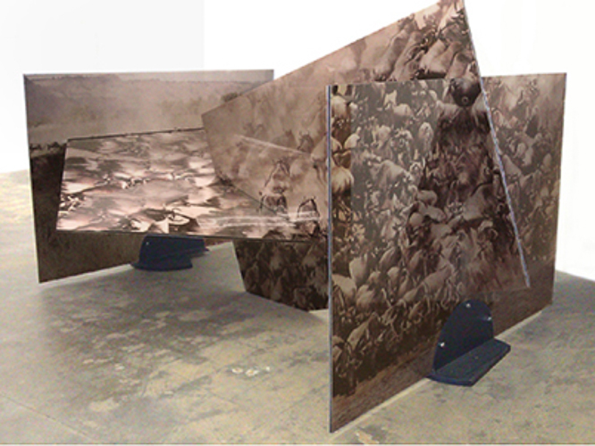 Metalwork Sculptures® buffalo squares