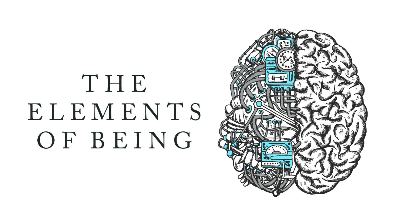 The elements of being podcast logo