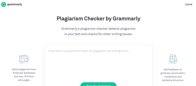 Free plagiarism checker Grammarly