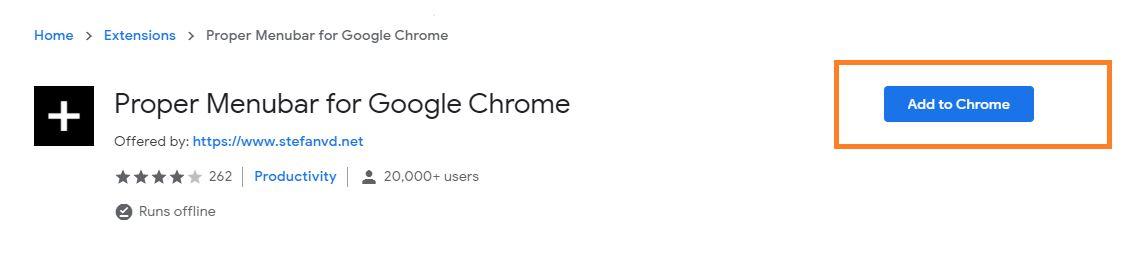 How do i add menu bar to google chrome