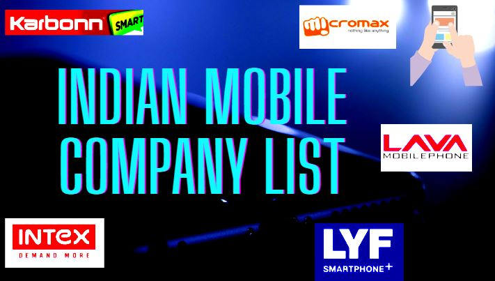 Indian mobile company List