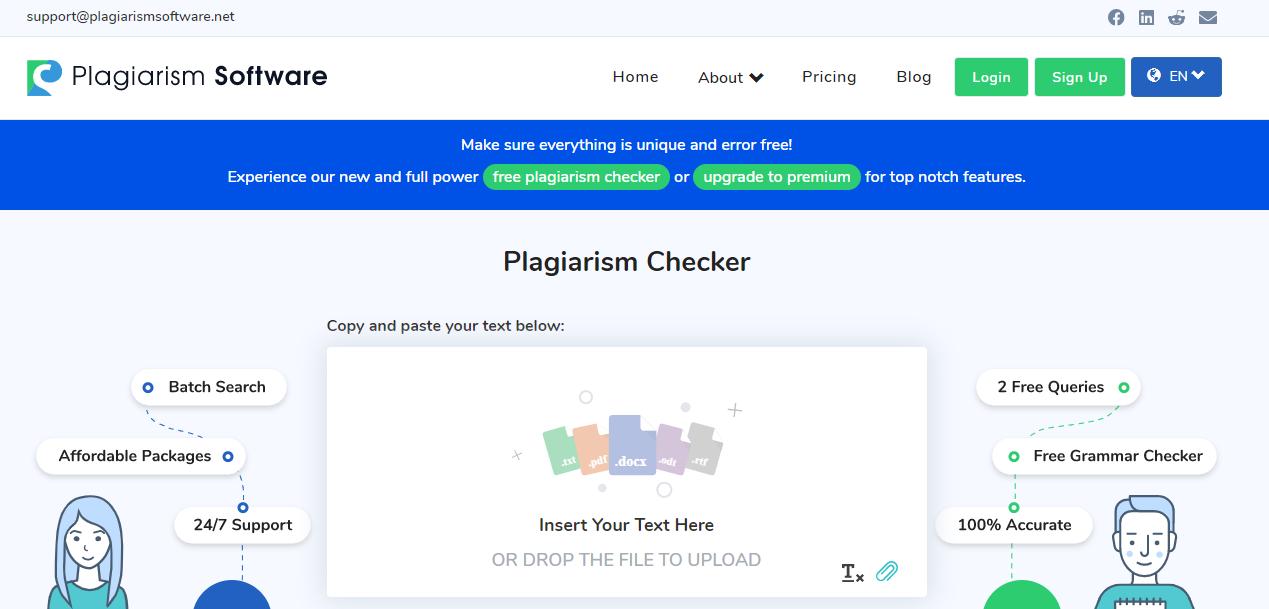 Plagiarism Checker - The Best Online Plagiarism Software