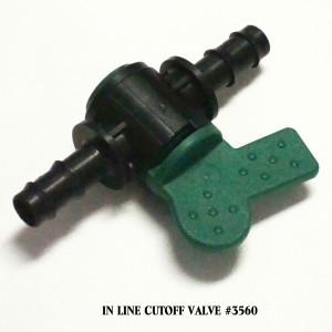 In Line Cutoff Valve #3560