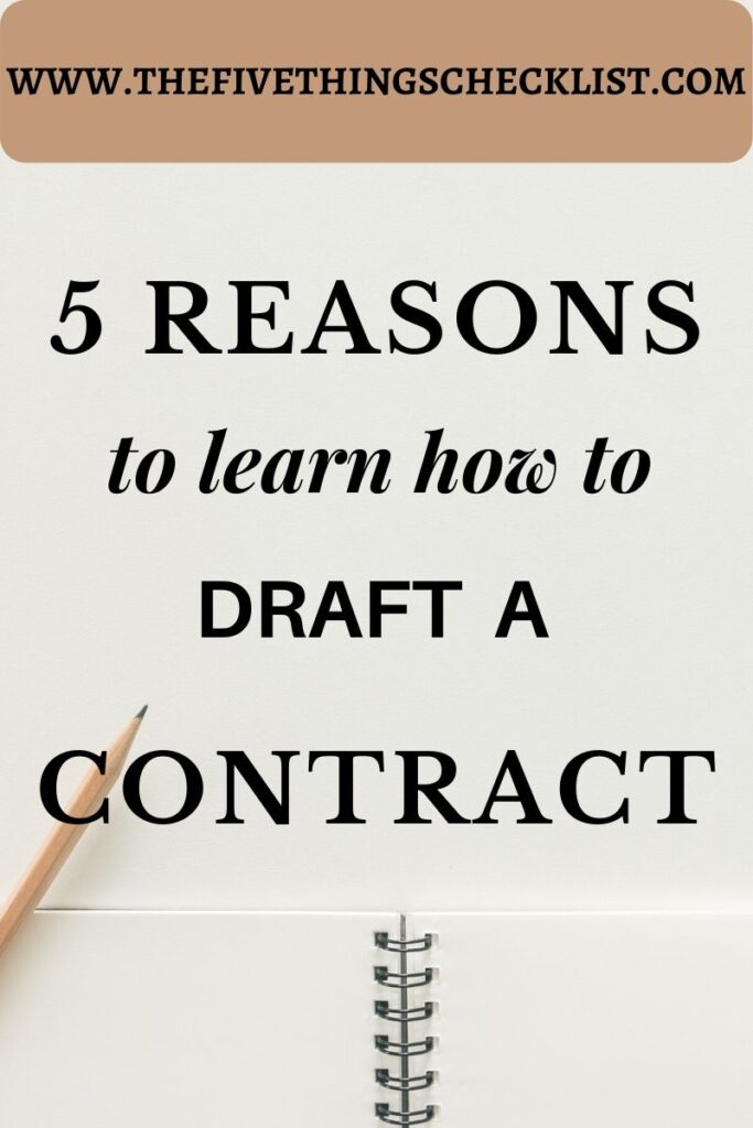 learn how to draft contract